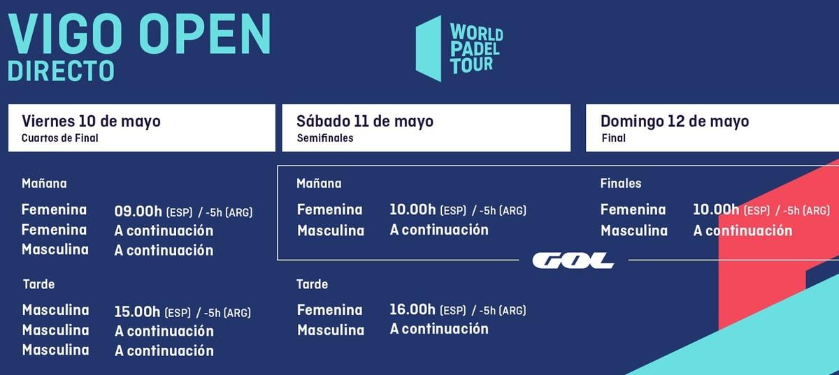 Horarios World Pádel Tour Vigo En Directo Padelstar