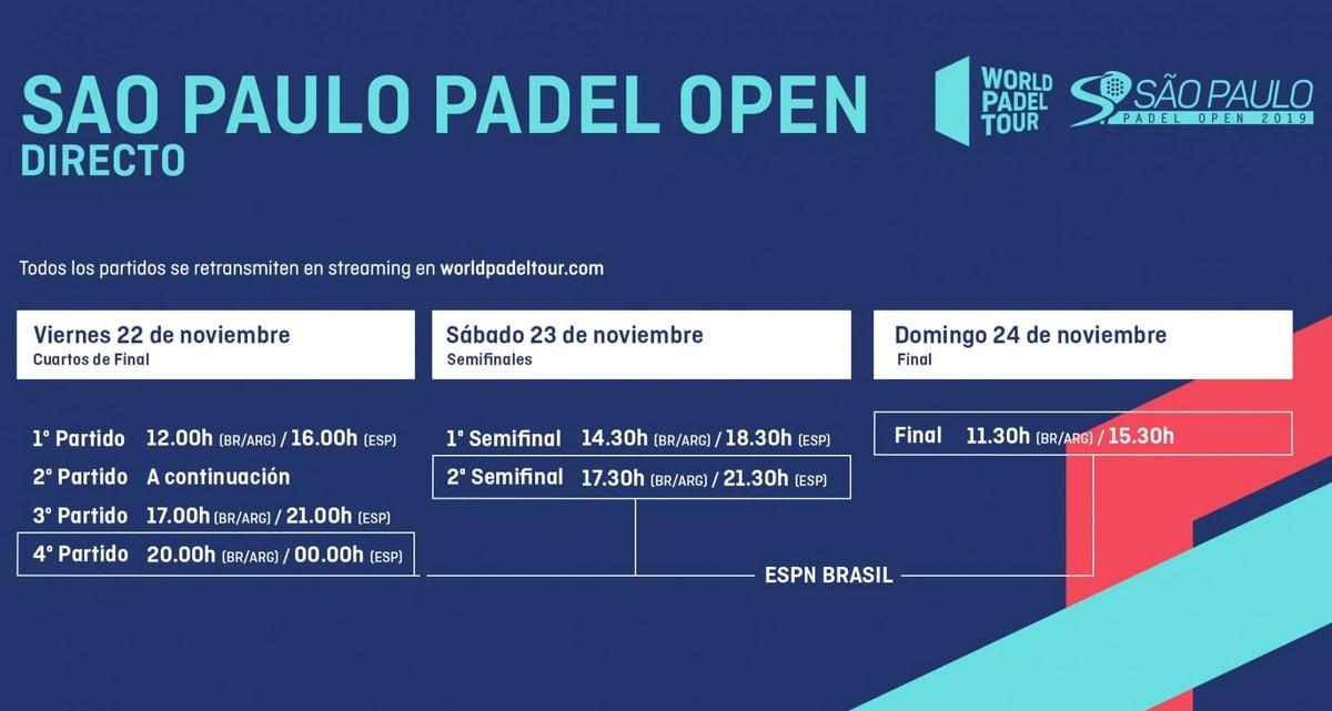 Horarios World Pádel Tour Brasil En Directo Padelstar
