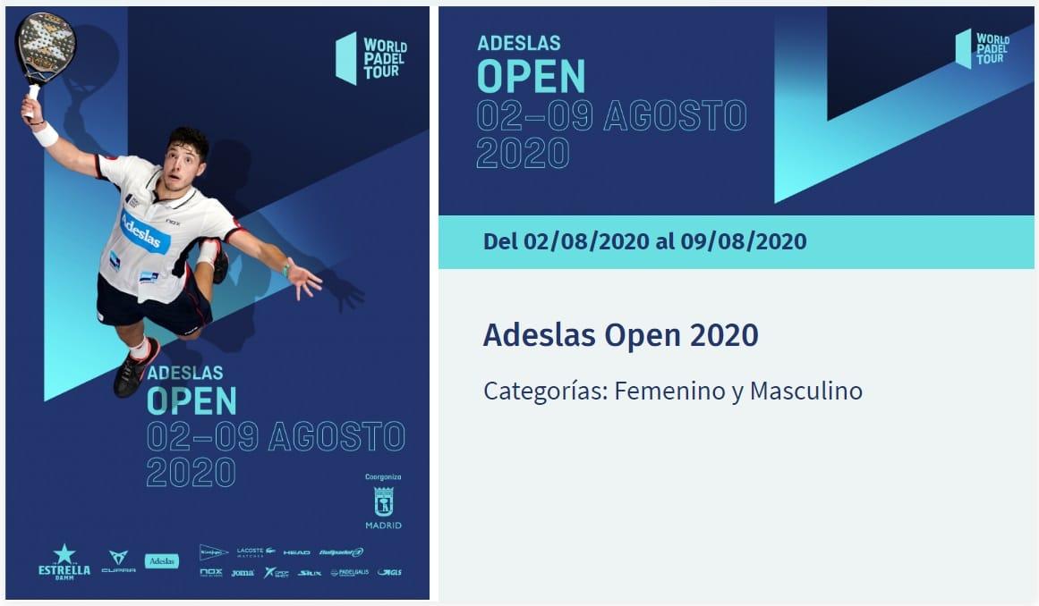 World Padel Tour Adeslas Open Madrid 2020